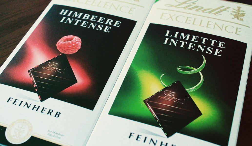Lindt Excellence Himbeere Intense & Lindt Excellence Limette Intense