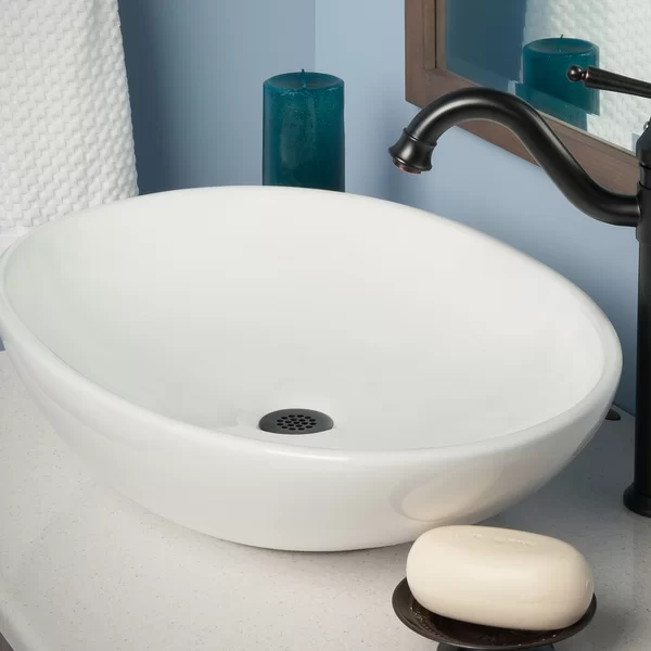 Ceramic Oval Vessel Bathroom Sink With Overflow Sink Bathroom Sink Ceramic Sink