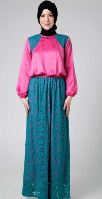 Contoh Baju Muslim Gamis untuk Perempuan Gemuk  9853b4f1c4
