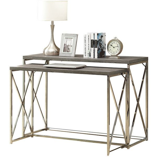 2-Piece Felicia Nesting Console Table Set Acquisition No Link Event ? liked on Polyvore  sc 1 st  Pinterest & 2-Piece Felicia Nesting Console Table Set Acquisition No Link Event ...