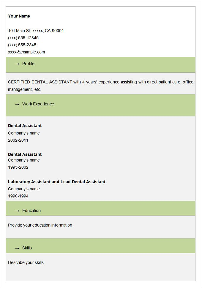 Dental Resume Template Image Result For Blank Biodata Form Download  Doc  Pinterest
