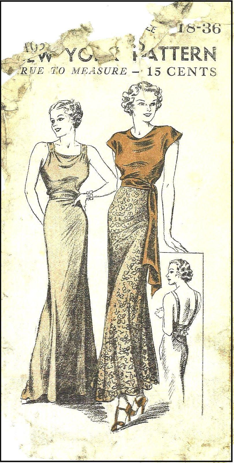Großartig 1930 Nähmustern Bilder - Strickmuster-Ideen ...