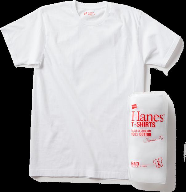 「日本人の心地良さのために」をコンセプトとしたヘインズを象徴するパックTシャツです。「インナーにはもちろん、アウターとして1枚で着られる」というヘインズが生んだ文化を継承し着丈、袖丈、身幅を日本人に合わせ、絶妙なフィット感を実現しました。