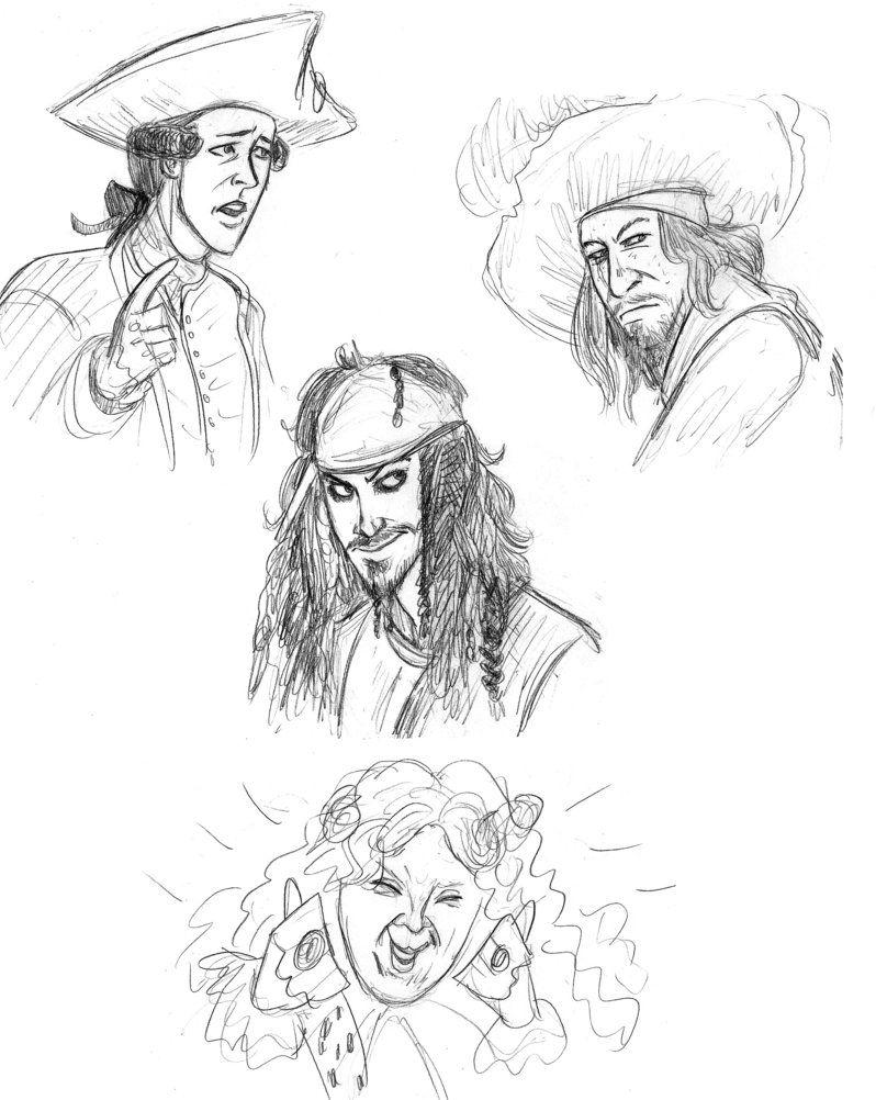 картинки и рисунки из пиратов карибского моря красивые идеи созданий