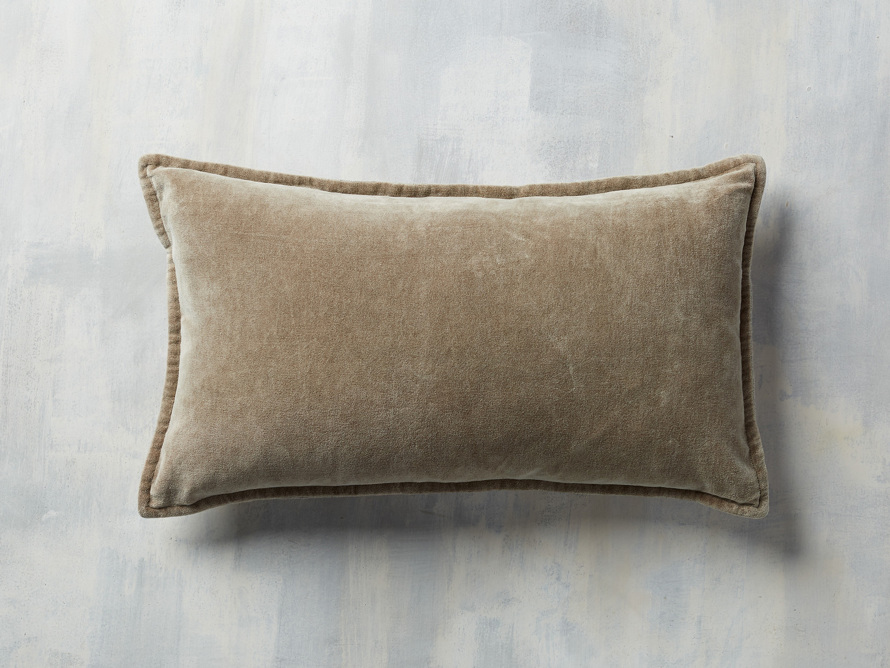 Stone Washed Velvet Lumbar Pillow In Taupe Arhaus Furniture Pillows Arhaus Lumbar Pillow