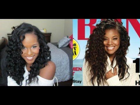Gabrielle union ebony cover inspired hair tutorial healthy gabrielle union ebony cover inspired hair tutorial pmusecretfo Images