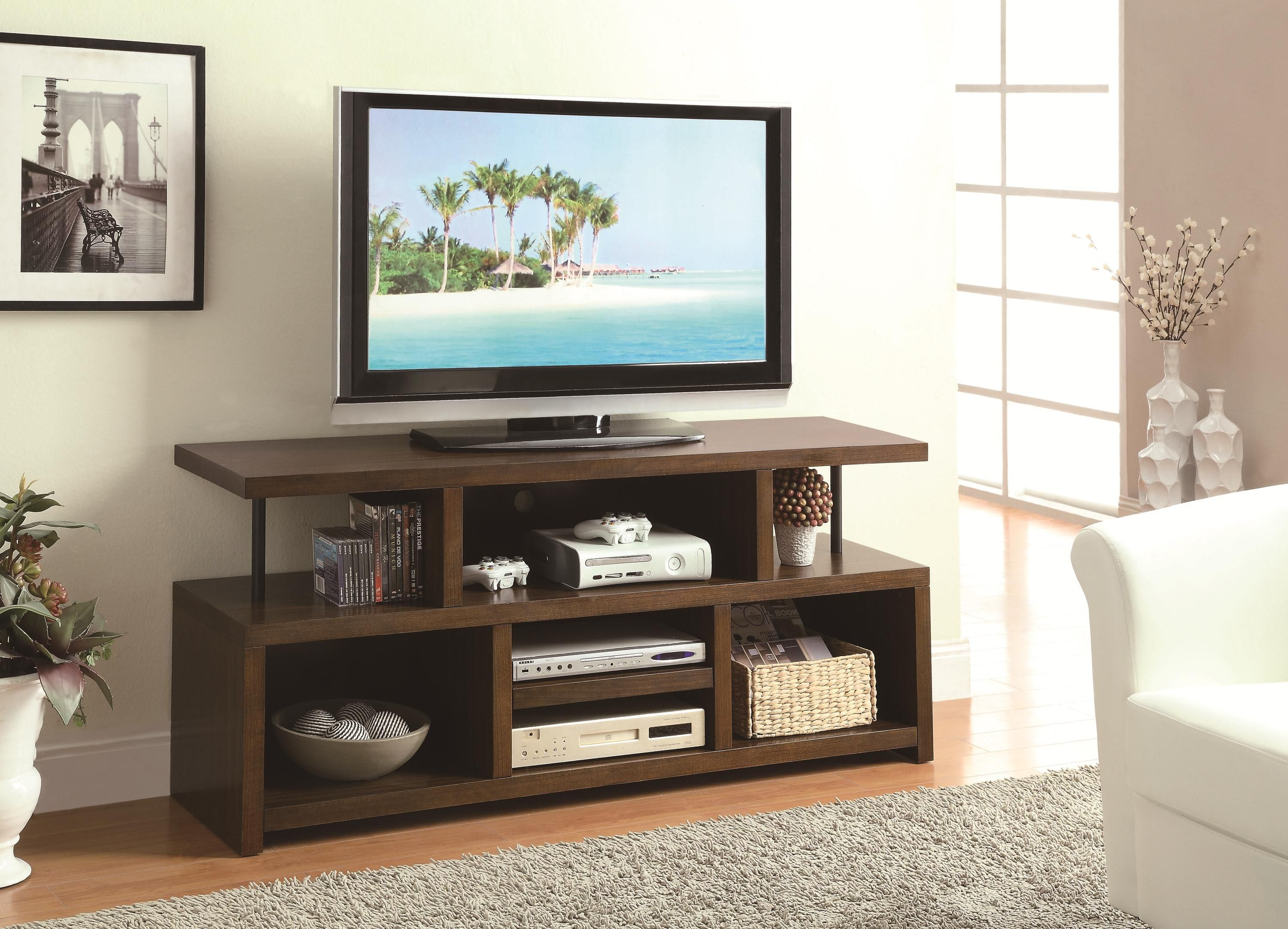 Coaster Tv Stands Casual Tv Console With Open Storage Coaster Fine Furniture Living Room Console Entertainment Center Furniture Home Tv Stand