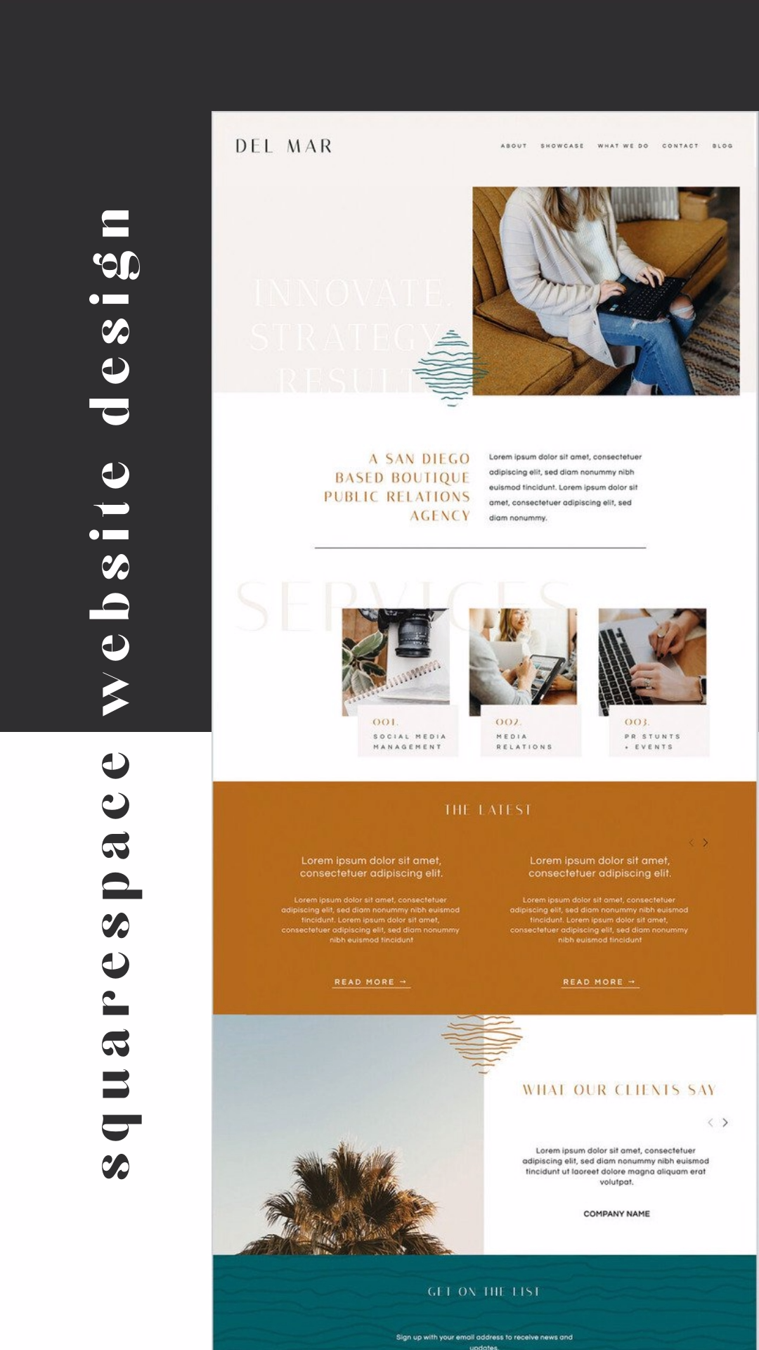 Squarespace Website Design Template for Agency or Fitness Studio - #agency #design #fitness #squarespace #studio #template #website - #DenDesign