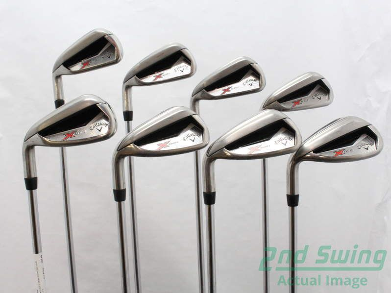 Callaway X Series N415 Iron Set 4 Pw Gw Steel Uniflex Left 385 In