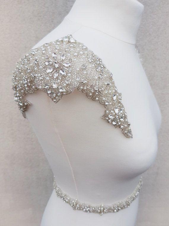 1 pair shoulders, Luxury applique, Shoulder Applique, Bridal ...
