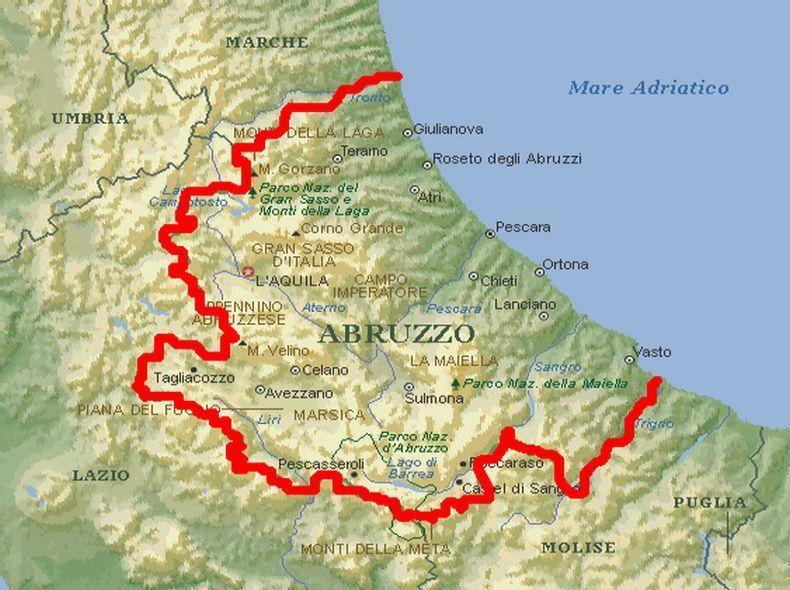 abruzzen karte Italien Karte Abruzzen | Kleve Landkarte
