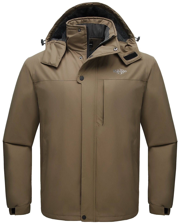 Men's Detachable Hood Waterproof Rain Jacket Windbreak
