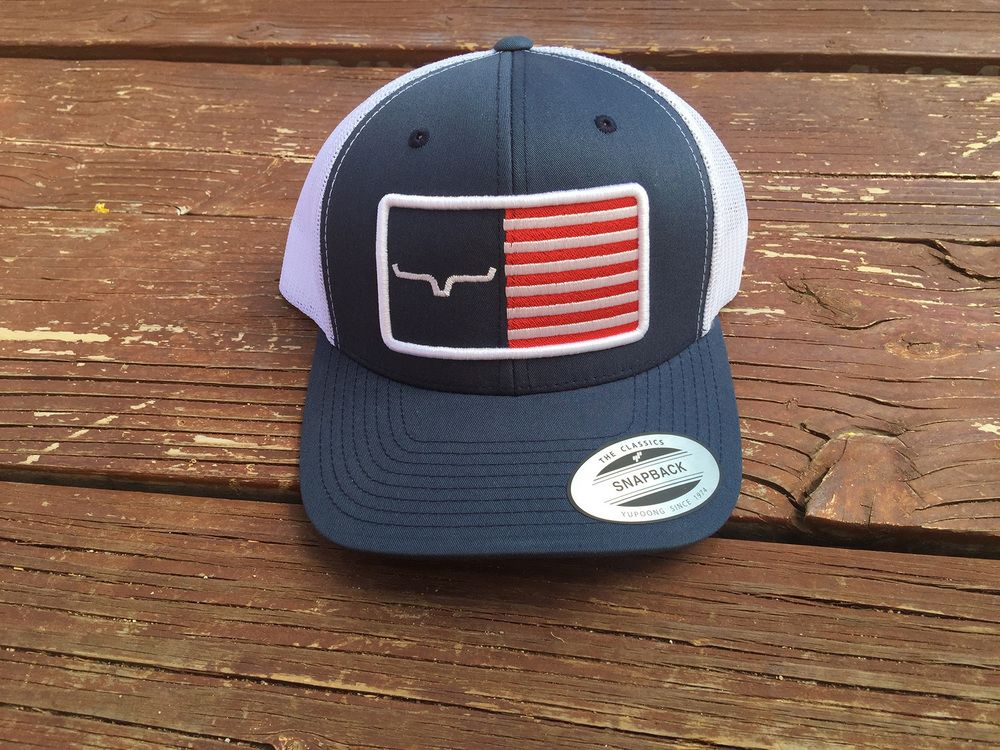 355b25256 Horns 'n Bars Hat $30 available at www.kimesranch.com/store #flag ...