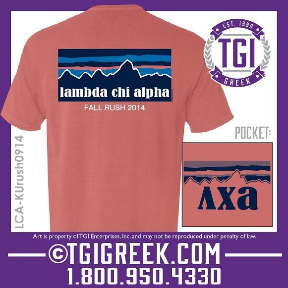 Tgi greek lambda chi alpha fraternity recruitment for Fraternity rush shirt ideas