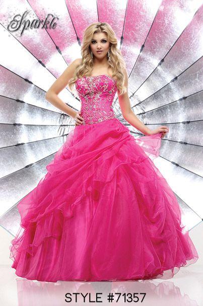 Style #71357  #prom #dress #promdress #pink #ballgown #sparkle