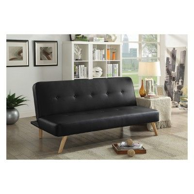 Super Iohomes Letson Contemporary Button Tufted Leatherette Sofa Caraccident5 Cool Chair Designs And Ideas Caraccident5Info