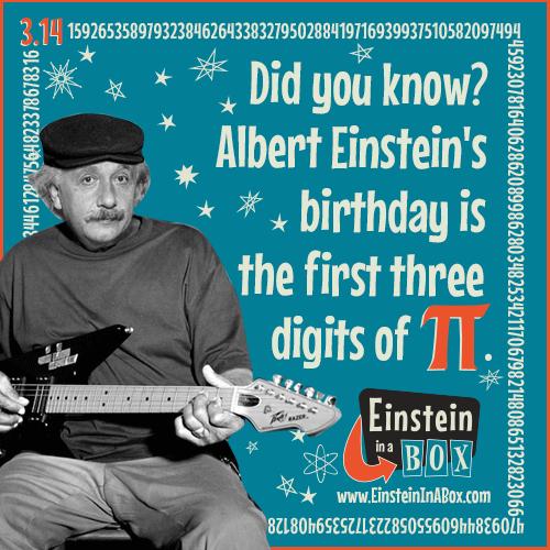 """Happy Birthday, Albert Einstein! We'll Enjoy Some """"Pi"""" In"""