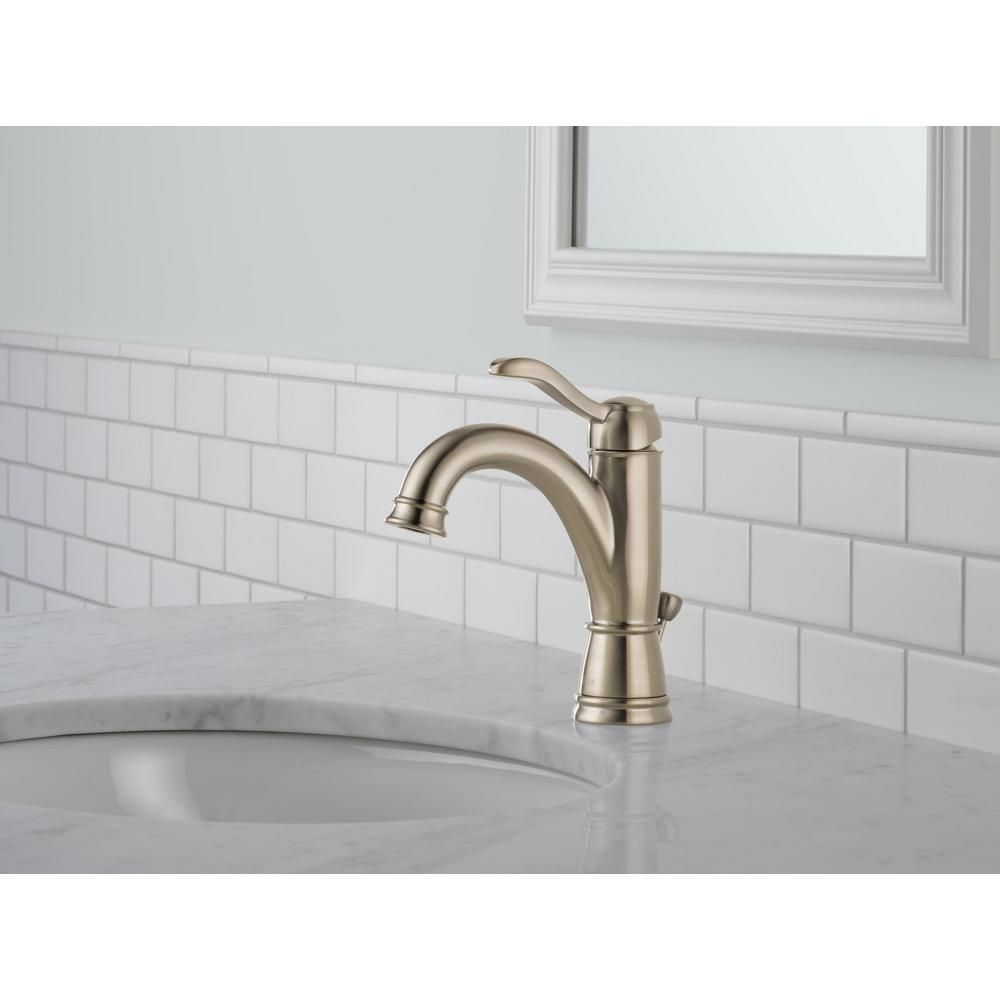 Delta Porter 4 in. Centerset Single-Handle Bathroom Faucet in ...