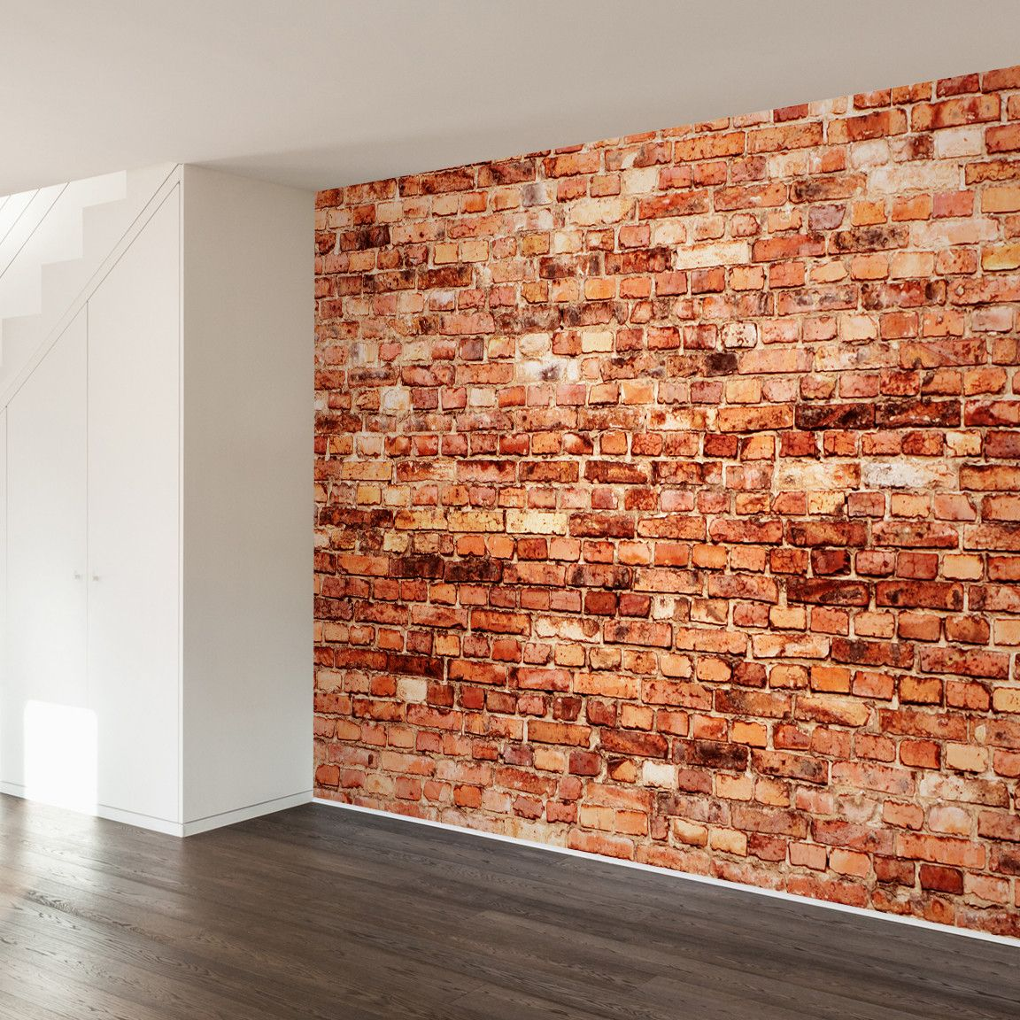 Vertical Brick Wall Accents Wall Decal: Industrial Chic Wall Mural Decal - Dot & Bo