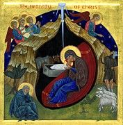 Byzantine Icon Paintings - Icon of the Nativity by Juliet Venter