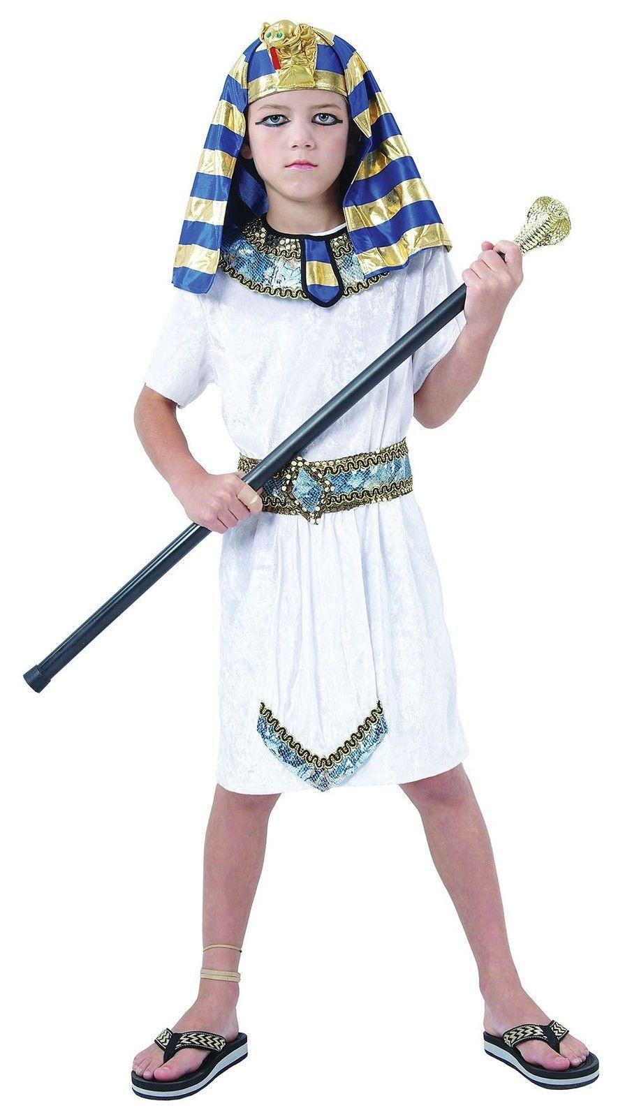 Boys Egyptian Pharaoh Kit King Fancy Dress Aged 5 - 7