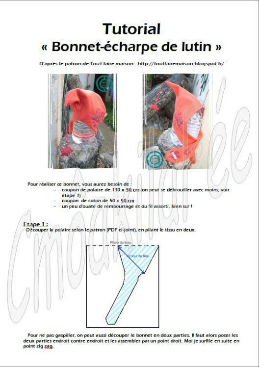 Bonnet-écharpe de lutin.... LE TUTO !!! | Tricot / crochet | Pinterest