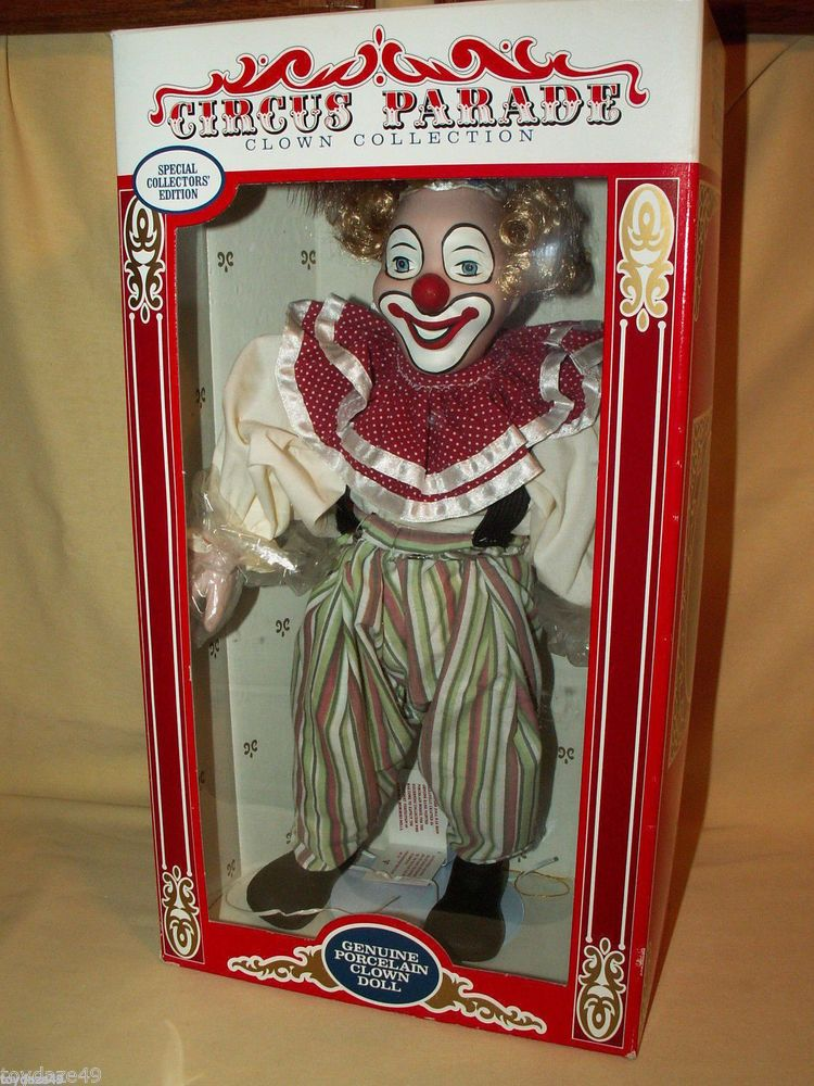 Clown Doll Circus Parade Collection Porcelain 1990 Anco Taiwan Special Edition Clown Dolls Special