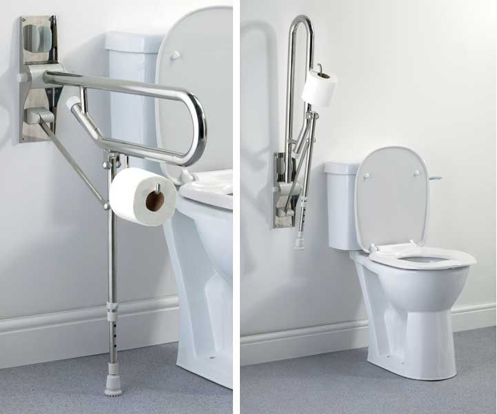 Bathroom Accessories Elderly disabled fold up toilet roll holder | architecture-adaptive