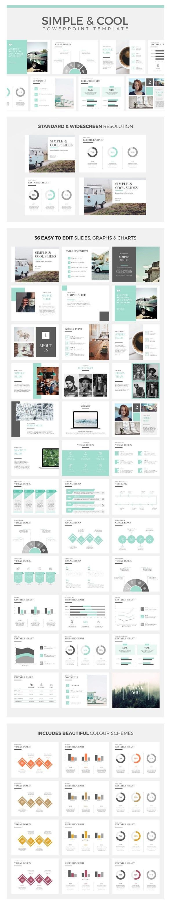 simple cool powerpoint template creative powerpoint templates