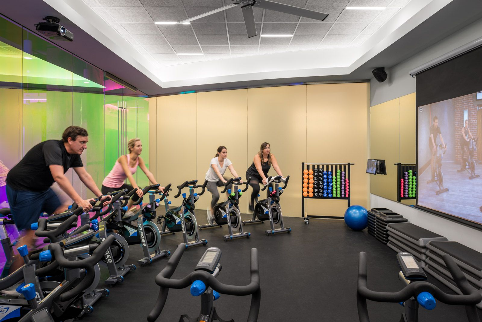 1000 Main Houston Texas 1000main Downtown Mainstreet Fitness Gym Bicycle Cycling Training Weightlifting Gym Design Gym Workouts Strength Training
