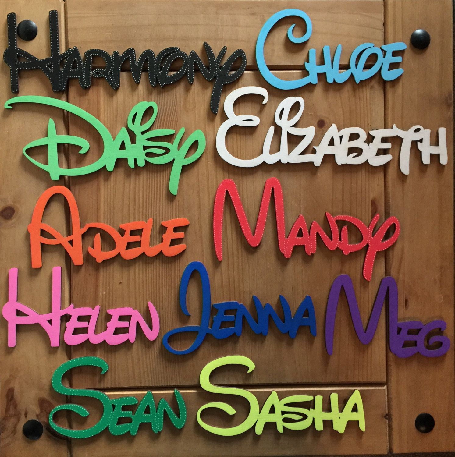 Personalised Wooden Names Disney Font Laser Cut Only Per Letter
