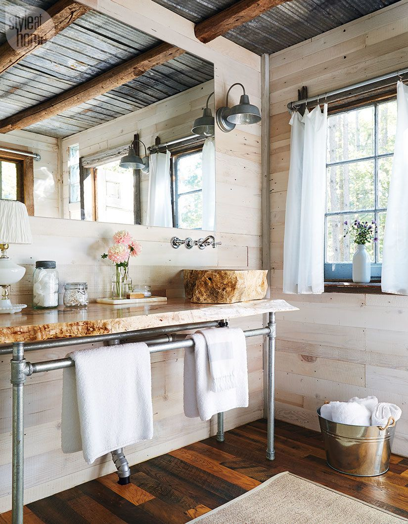 Tour this rustic retreat among the treetops | Rustic bathrooms ...