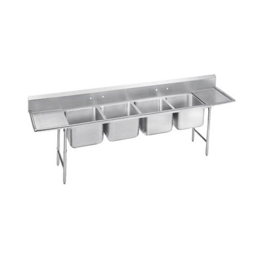 Advance Tabco 93 4 72 24rl Regaline Four Compartment Stainless Steel Sink With Two Drainboards 122 Advance Tabco Floor Sink Sink