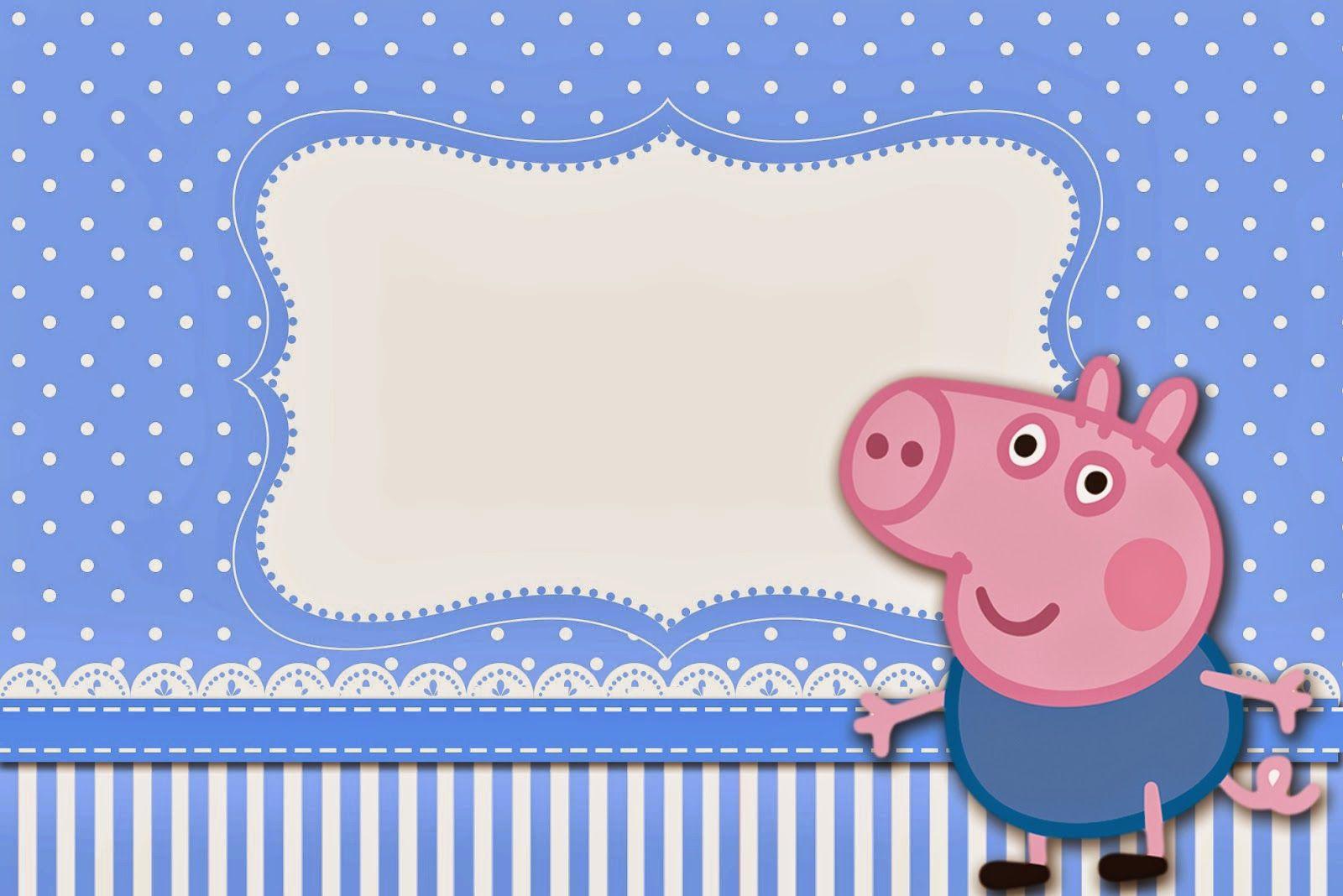 Pin De Christian En Invitaciónes Fiesta De George Pig