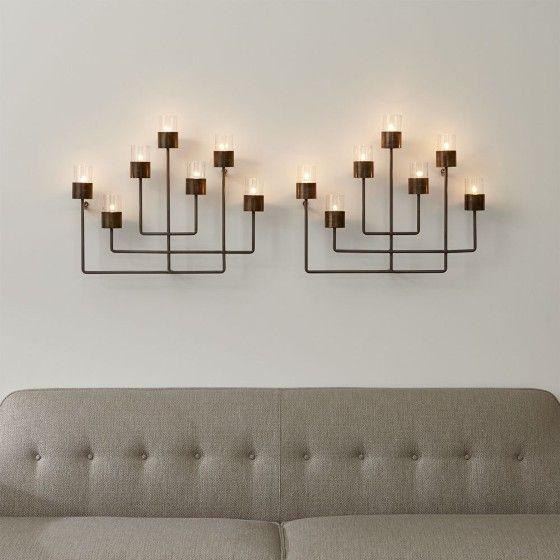Juego de 2 candelabros de pared surita decoracion - Candelabros de pared ...