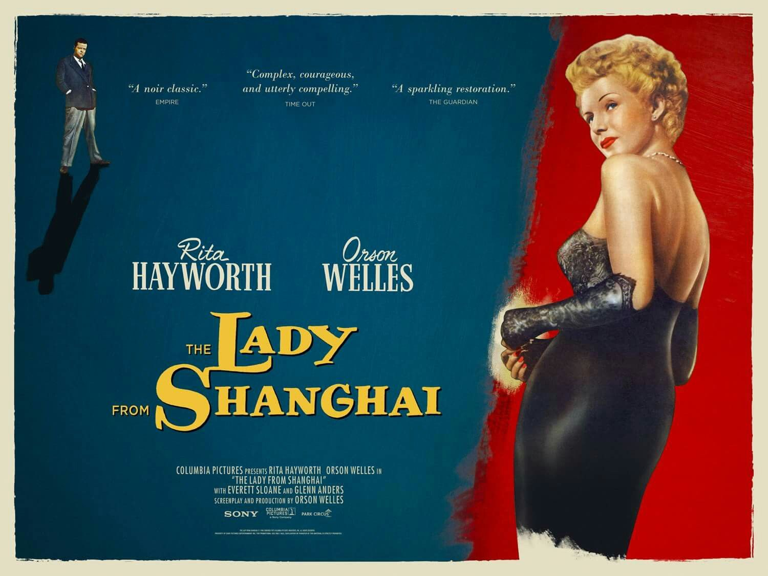 The Lady From Shanghai | UK Re-issue Movie Poster, 2014