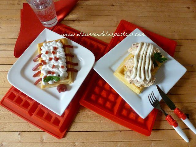 El Zurron De Los Postres Gofres Recetas De Comida Waffles