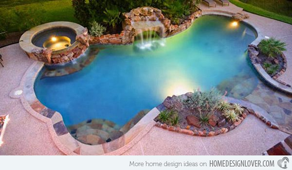 15 Fabulous Swimming Pool with Spa Designs | Spa design, Swimming ...