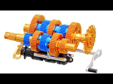 How A Motorcycle Transmission Works Animation Youtube Transmission Motorcycle Motorcyle