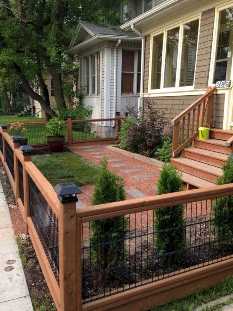20 Awesome Way To Decor Your Backyard With Small Garden Fence Ideas Backyard Gardenfence Small Garden Fence Modern Front Yard Front Yard Landscaping Design