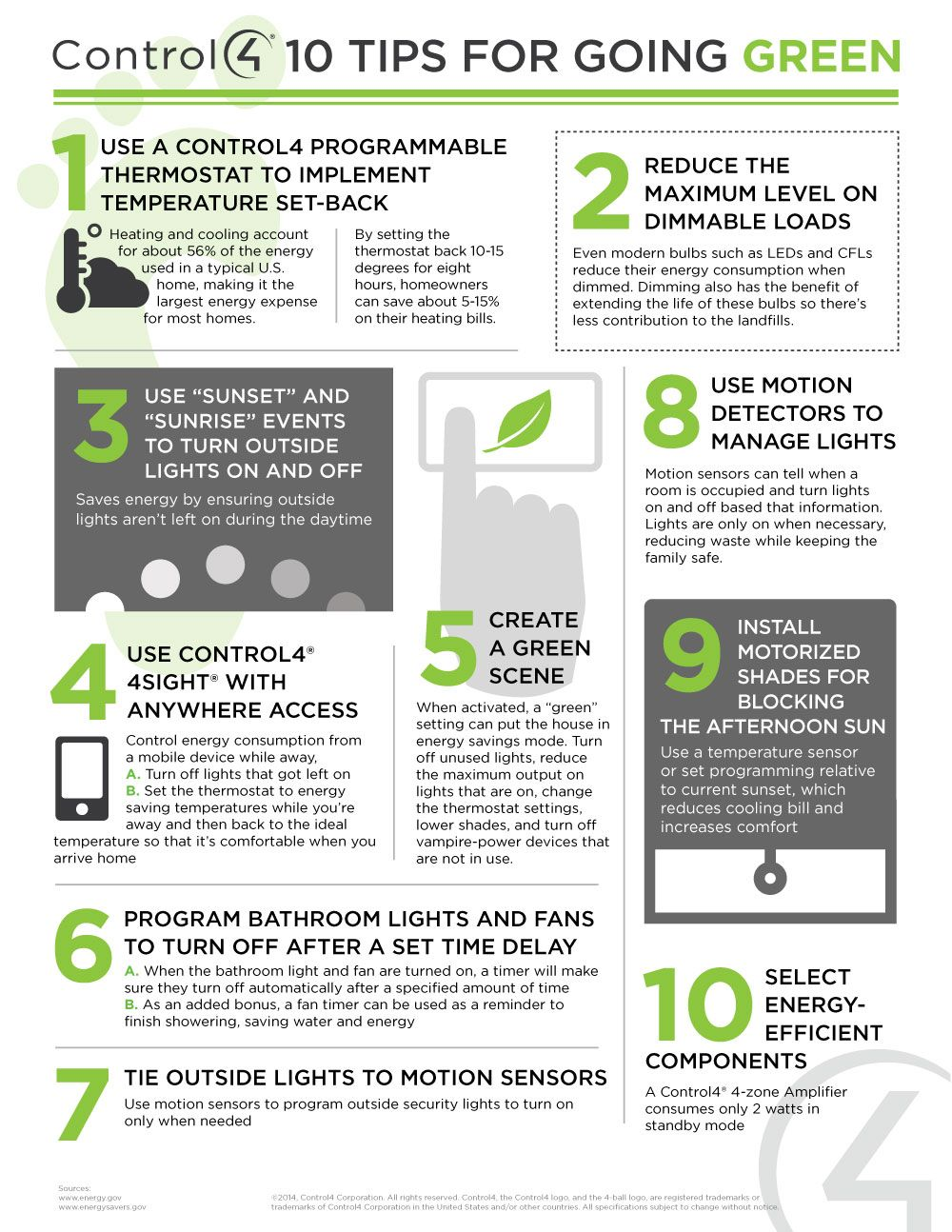 Tips For Energy Management Infographic Going Green
