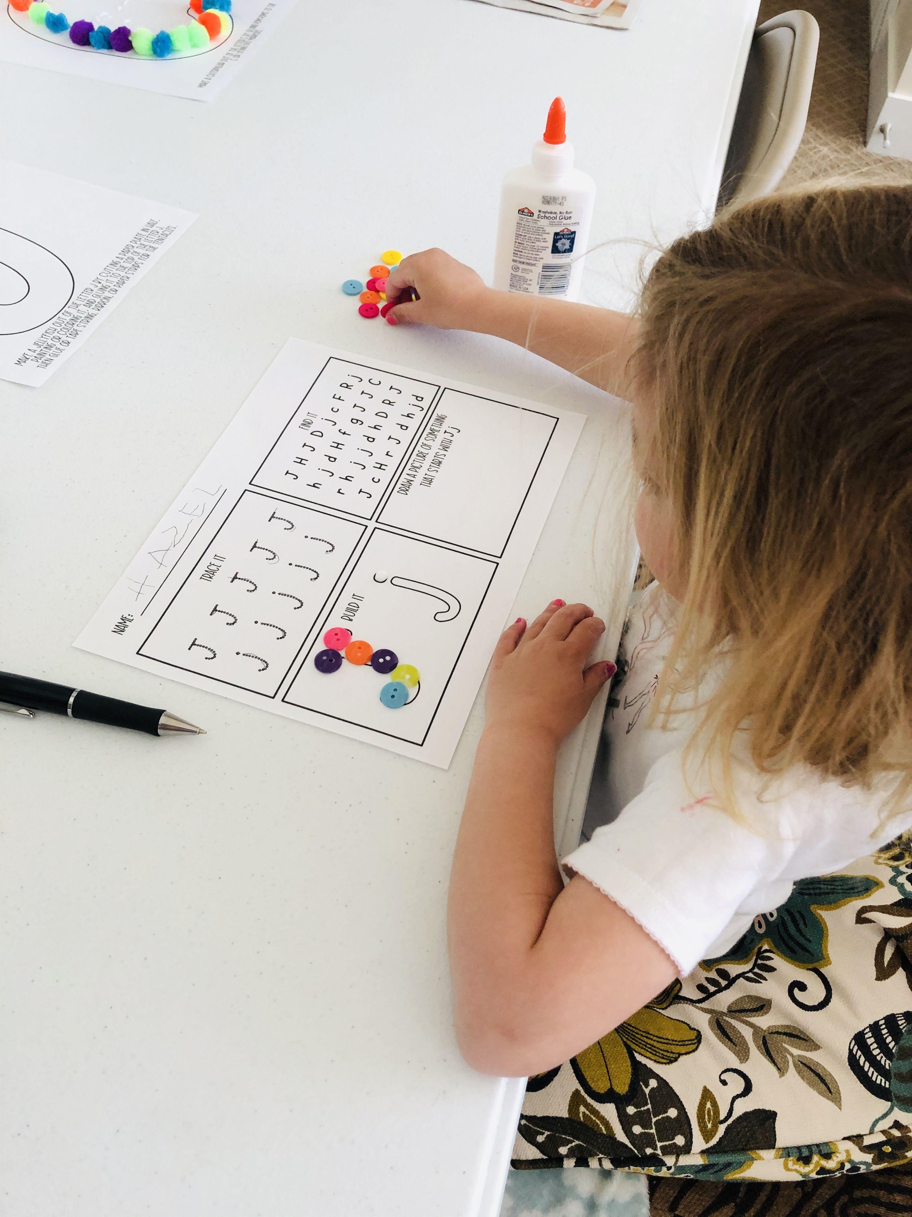 Preschool Alphabet Worksheet