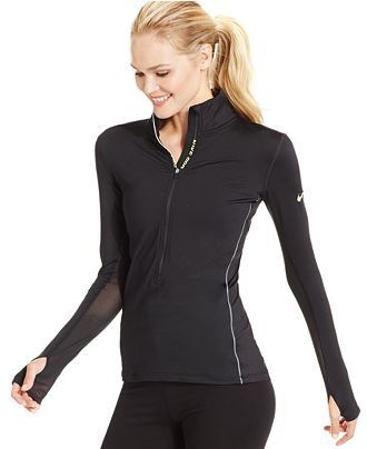 7408f8e7ef Nike Pro Hyperwarm Half-Zip Dri-FIT Long-Sleeve Shirt - Activewear - Women  - Macy s