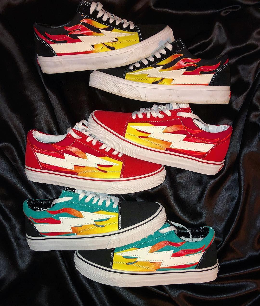 Flame Torm Custom Vans Shoes Vans Skate Shoes Sneakers N Stuff