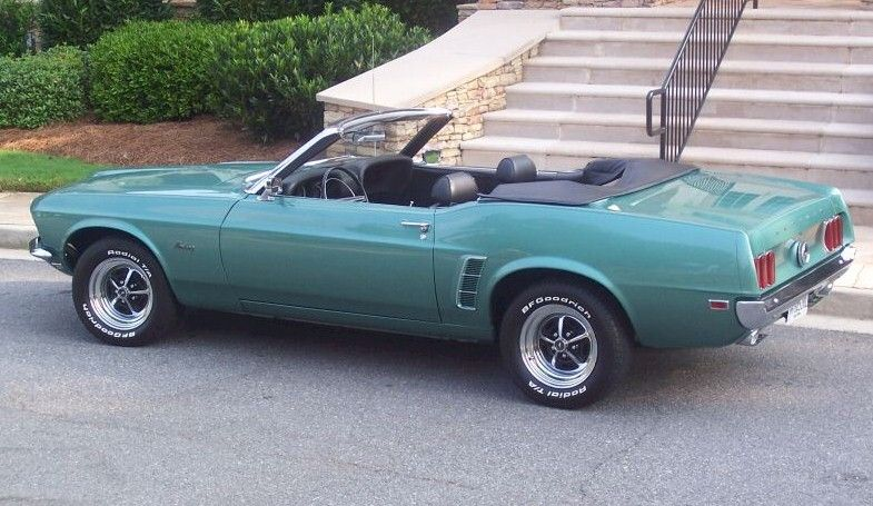 Silver Jade Green 1969 Ford Mustang Convertible Mustangattitude
