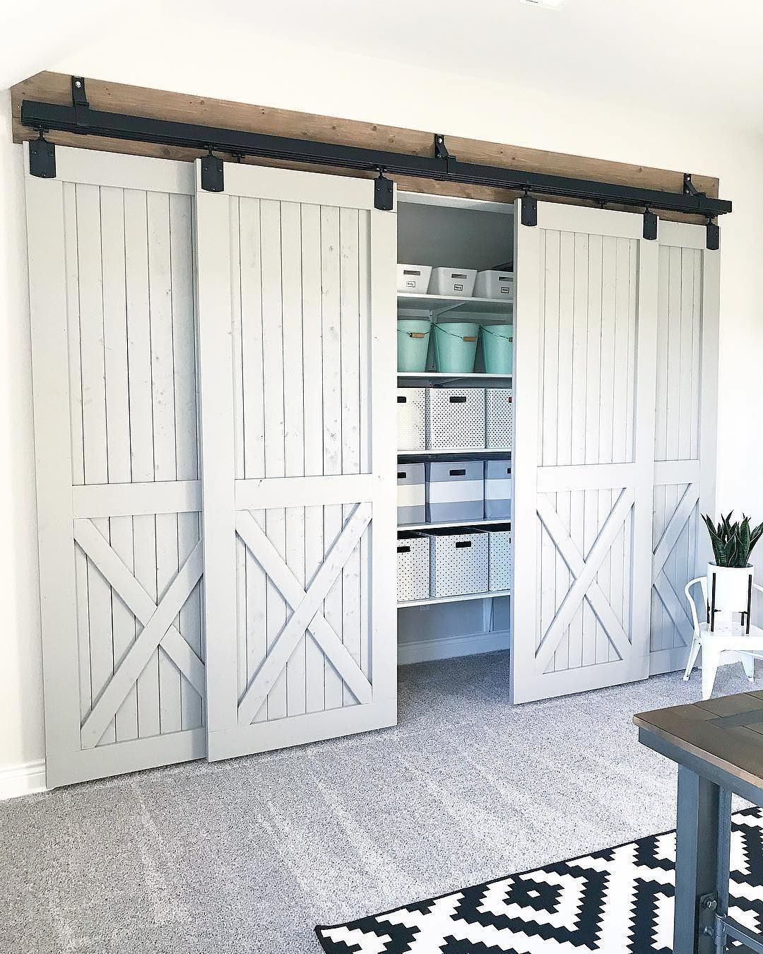 Ourfauxfarmhouse Used Double Bracket And Other Barn Door