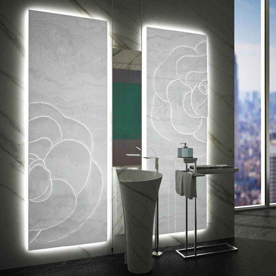 MGM\'s elegant sculptured backlit white onyx panel and floor standing ...