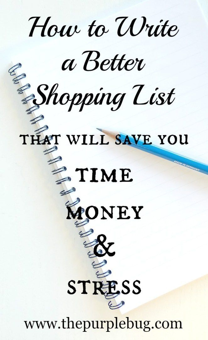 write lists for money