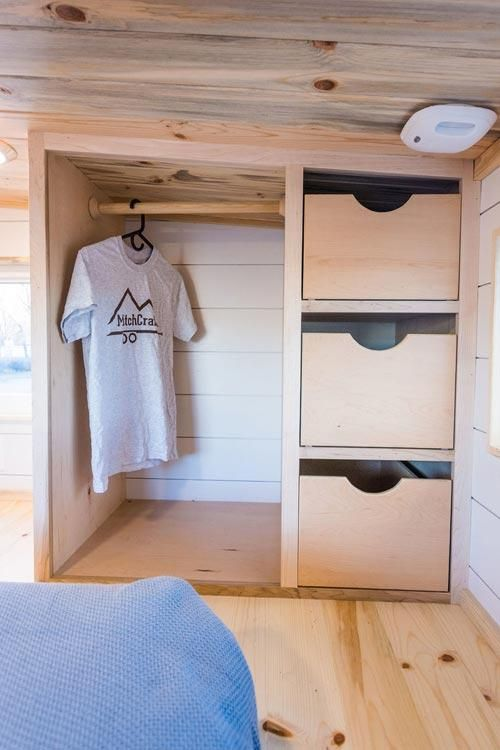 20' Custom Tiny House on Wheels by MitchCraft Tiny Homes #tinyhousebathroom