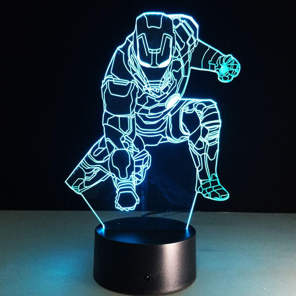 Ironman Mark Action Figure 3d Led Night Light Lamp Iron Man
